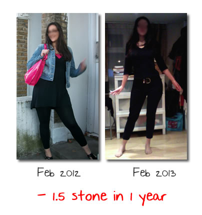 Before and After: 10Kg less